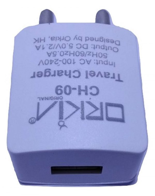 Orkia Fast Charging 2.1 Amp mobile charger