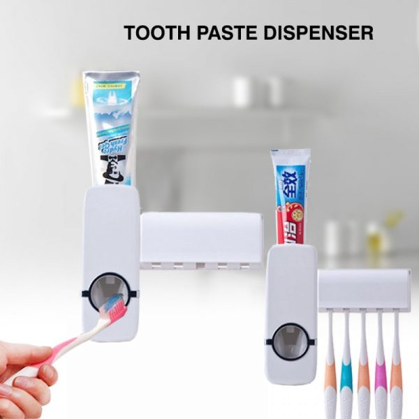 Toothpaste Dispenser and Tooth Brush Holder for Home Bathroom Acessories